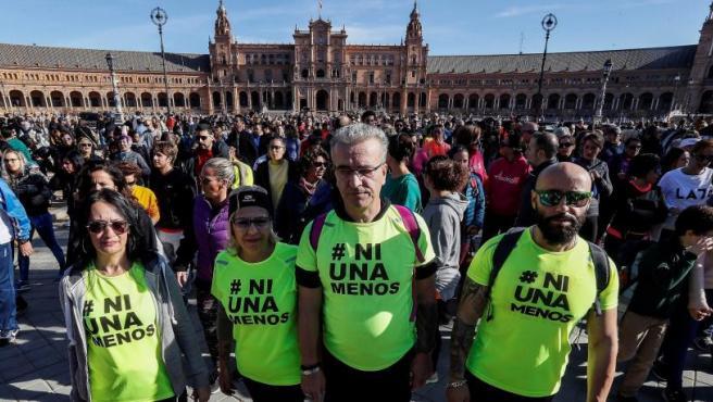 Participantes en la carrera homenaje a Laura Luelmo, la profesora zamorana asesinada en El Campillo (Huelva).