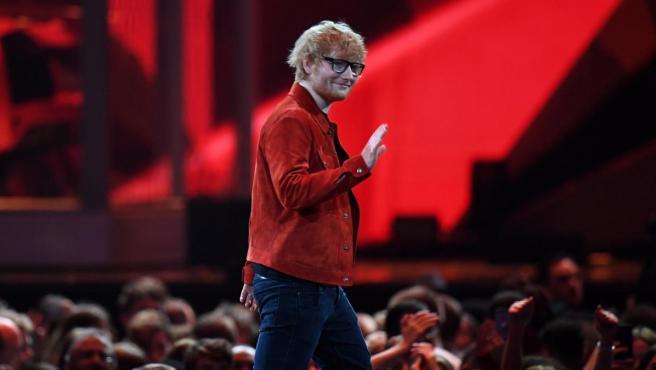 El cantante inglés Ed Sheeran, en los Brit Awards del pasado mes de febrero.
