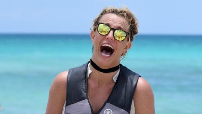 La cantante Britney Spears de vacaciones en Miami (Estados Unidos).