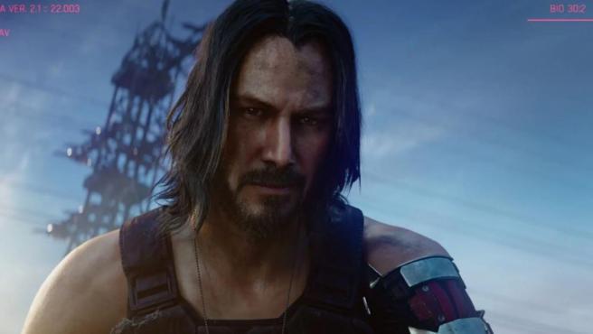 Keanu Reeves en el videojuego 'Cyberpunk 2077'.