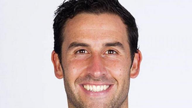 El jugador del Deportivo de La Coruña y exjugador del Huesca, Íñigo López Montaña, otro de los detenidos en la operación policial contra una organización que amañaba partidos de fútbol.