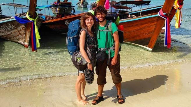 Paula y Pedro, al frente del blog 'Con Botas y Mochila'.