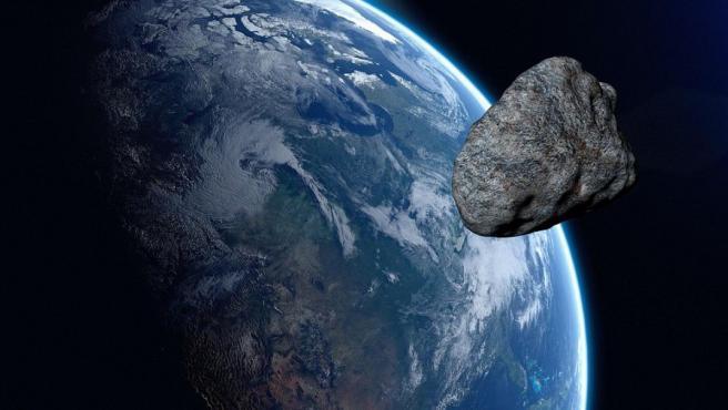 Imagen recreada de un asteroide.