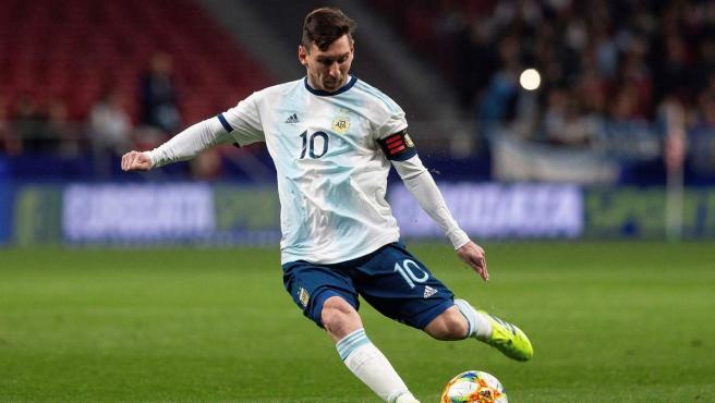 Leo Messi, con Argentina.