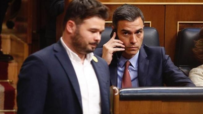 Rufián y Sánchez, en una imagen de archivo.