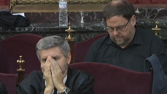 Junqueras sigue las conclusiones de la Fiscalía en el juicio del 'procés'.