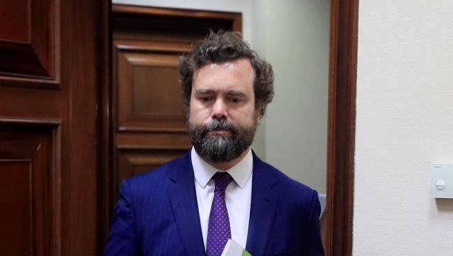 El portavoz de Vox en el Congreso, Iván Espinosa de los Monteros.