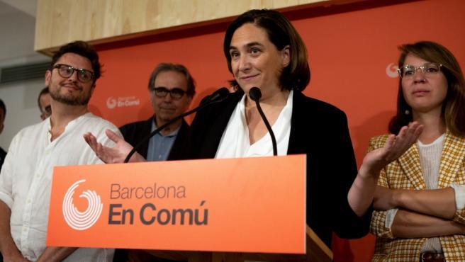 Ada Colau anuncia los resultados de la encuesta a las bases de BComú.