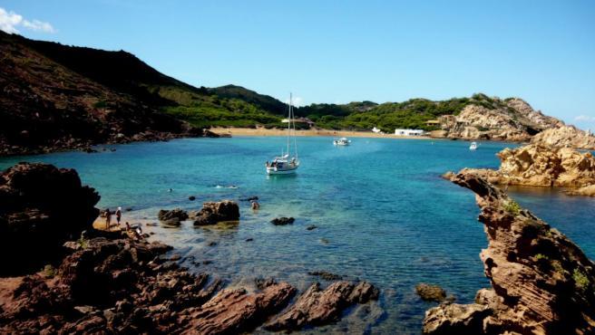 Imagen de Cala Pregonda, en Menorca.