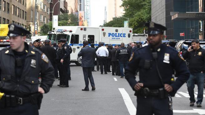 Agentes de la Policía de Nueva York, en una imagen de archivo.