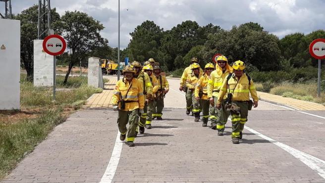Córdoba.- Sucesos.- Extinguido un incendio agrícola declarado este miércoles en un paraje de Villanueva de Córdoba