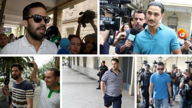 Los cinco condenados de la Manada.