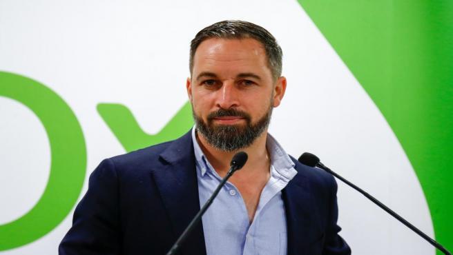 Rueda de prensa de Santiago Abascal sobre los resultados electorales del 26M y su postura ante posibles pactos políticos