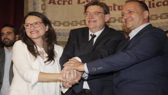 Puig defiende que la presencia de Podemos en el Govern valenciano dará más estabilidad: 'Estamos hoy mejor que ayer'