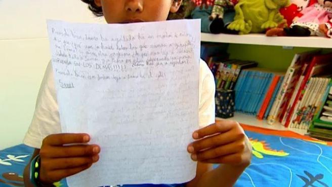 Sami es un niño con autismo que ha pedido por carta que mantengan a su profesora.