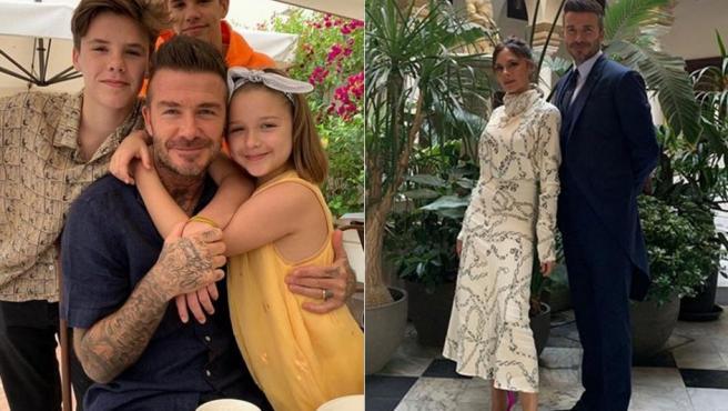 Imágenes compartidas por David y Victoria Beckham de su fin de semana en Sevilla.