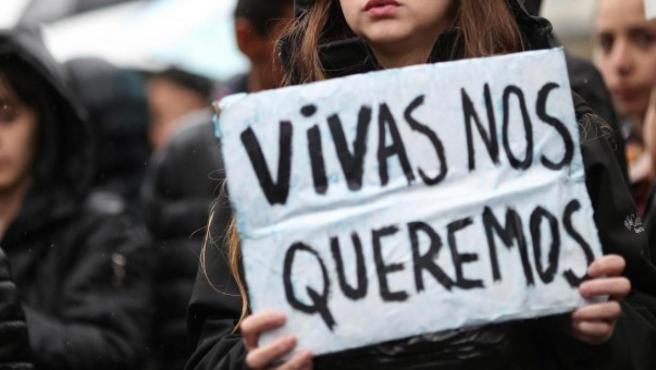 Imagen de archivo de una manifestación contra la violencia machista.