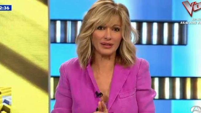 Susanna Griso, durante una emisión de 'Espejo público'.