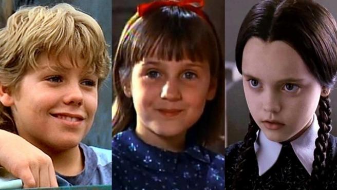 Jason James Ritcher en '¡Liberad a Willy!', Mara Wilson en 'Matilda' y Christina Ricci en 'La familia Addams' y