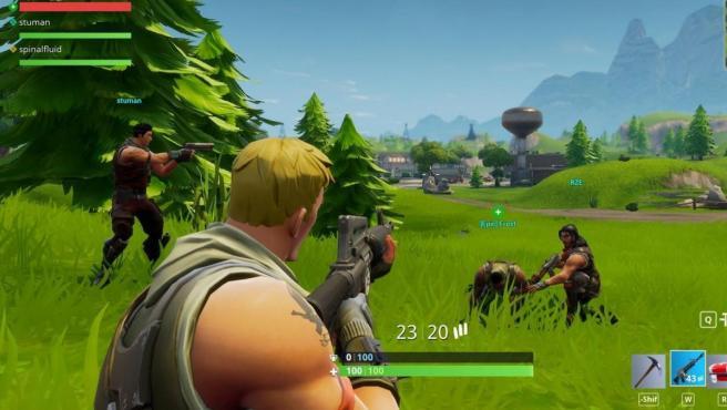 Captura de una partida de 'Fortnite', el 'battle royale' al que todos juegan.