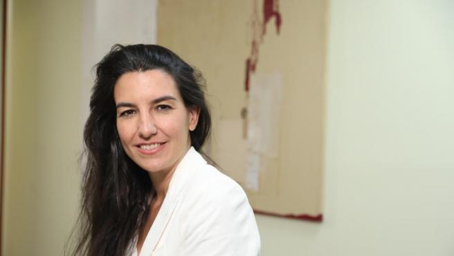 Retratos de la candidata de VOX a la Presidencia de la Comunidad de Madrid, Rocío Monasterio