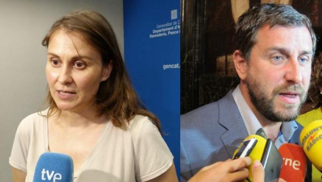 Los dos exconsellers fugados, Meritxell Serret y Antoni Comín.
