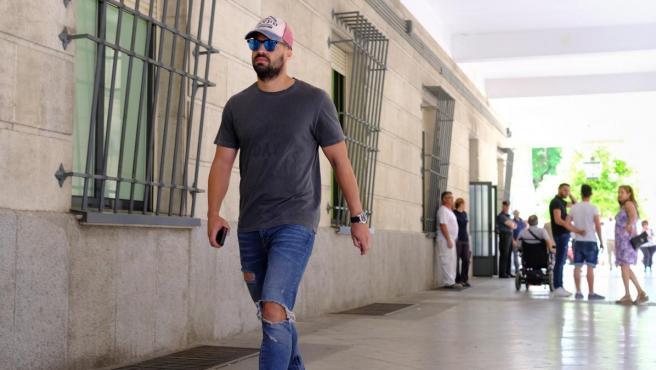 Antonio Manuel Guerrero Escudero, guardia civil de La Manada en los Juzgados de Sevilla.