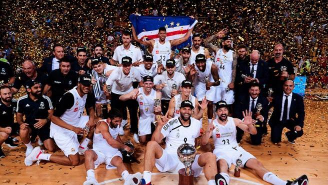 El Real Madrid campeón de la ACB 2019.