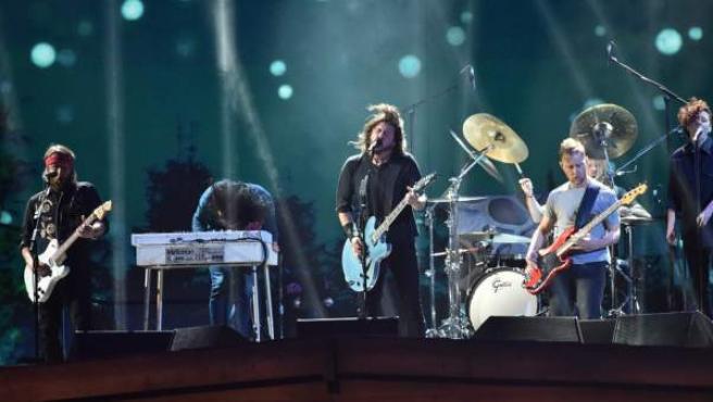 Dave Grohl, vocalista de Foo Fighters, durante un concierto.