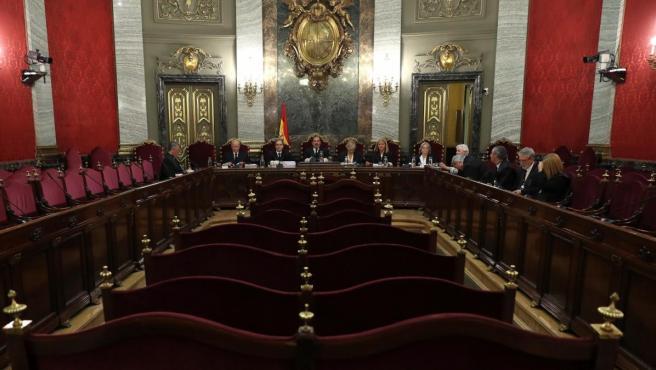 Vista general del Tribunal Supremo en la vista sobre la sentencia de La Manada.