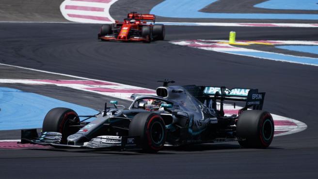 Lewis Hamilton, durante el GP de Francia de Fórmula 1.