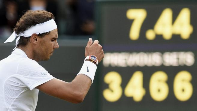 El tenista español Rafael Nadal en el torneo de Wimbledon.