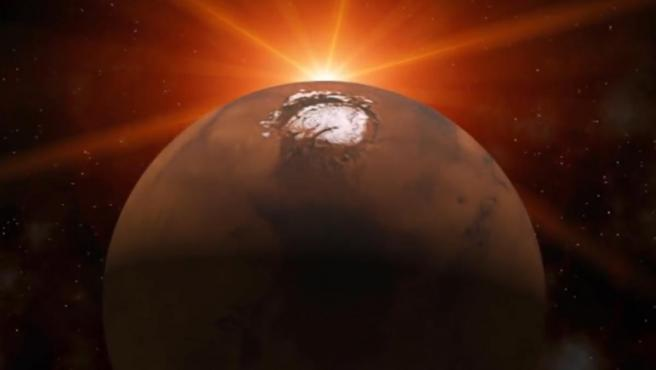 Marte puede conservar una cámara de magma que propicia agua líquida