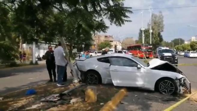 Imagen del accidente supuestamente provocado por Joao Maleck.
