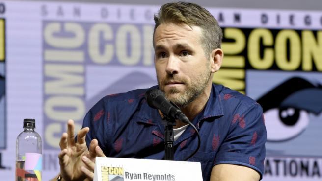 El actor Ryan Reynolds en una intervención en la Comic-Con de San Diego 2018.