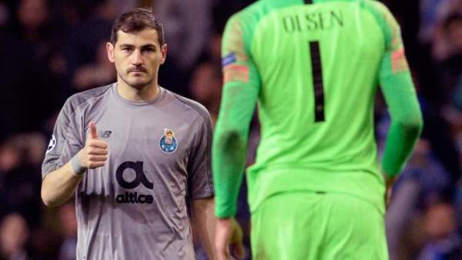Iker Casillas, portero del Oporto.