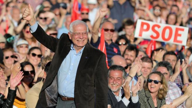 El candidato socialista al Parlamento Europeo Josep Borrell.