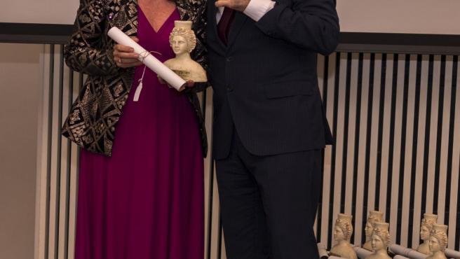 La enóloga de González Byass y presidenta de la Asociación Sherry Women, Marina García, galardonada con un Prenamo