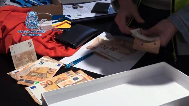 Imagen difundida por la Policía Nacional sobre la 'Operación Oikos'.