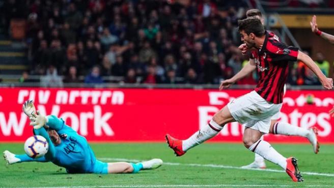 El rossonero Fabio Borini, durante un partido del Milan.