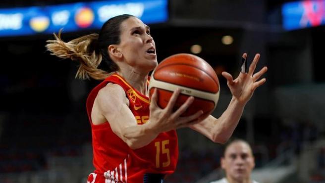 Anna Cruz, con la selección española en el Eurobasket 2019
