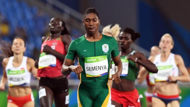 Caster Semenya, en la final del 800 en Río.