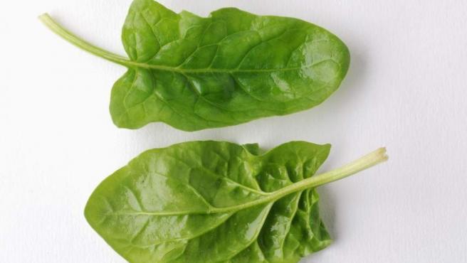 Dos hojas de espinacas, en una imagen de archivo.