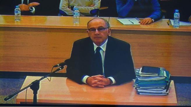 Rodrigo Rato, durante el juicio por la salida a bolsa de la entidad.