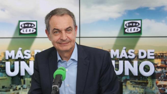 El expresidente del Gobierno José Luis Rodríguez Zapatero en 'Más de Uno'.