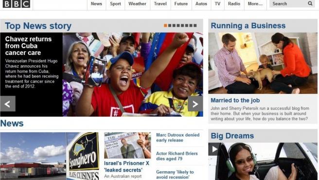 Imagen de la web de la BBC.