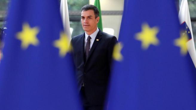 El presidente del Gobierno de España, Pedro Sánchez, a su llegada a la cumbre que se celebra en Bruselas, Bélgica.