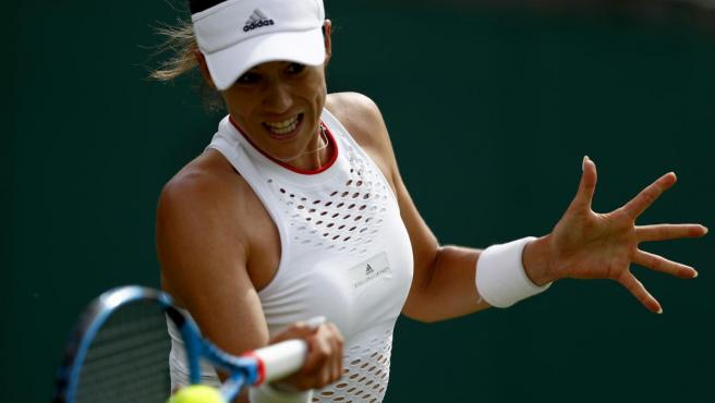 Garbiñe cae ante Beatriz Haddad Maia en Wimbledon.