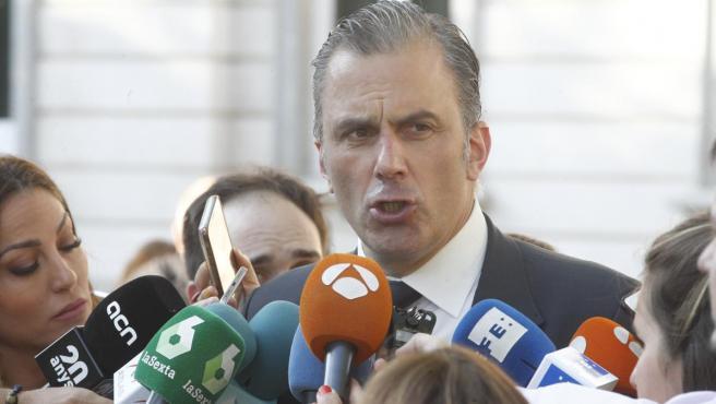 Javier Ortega-Smith realiza una declaración frente al Tribunal Supremo.