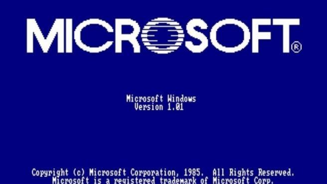 Pantalla de inicio de Windows 1.0